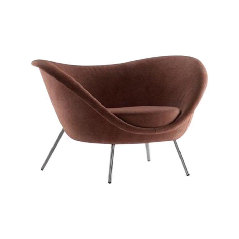 Molteni&C D.154.2 Armchair Gio Ponti Design Velvet  For Sale