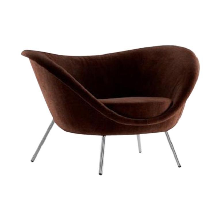 Molteni&C D.154.2 Armchair Gio Ponti Design Brown Velvet For Sale
