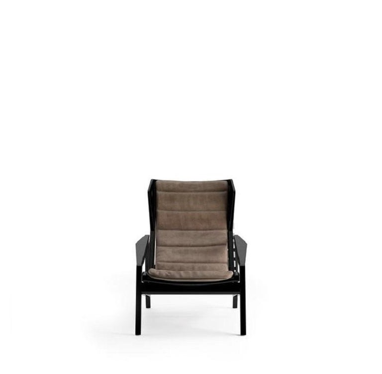 Molteni&C D.156.3 Armchair Design Gio Ponti Brown Leather In New Condition For Sale In New York, NY