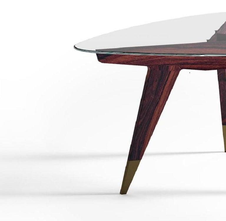 Modern Molteni&C D.552.2 Coffee Table Gio Ponti Design Glass For Sale