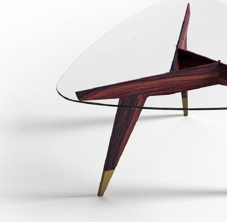 Italian Molteni&C D.552.2 Coffee Table Gio Ponti Design Glass For Sale
