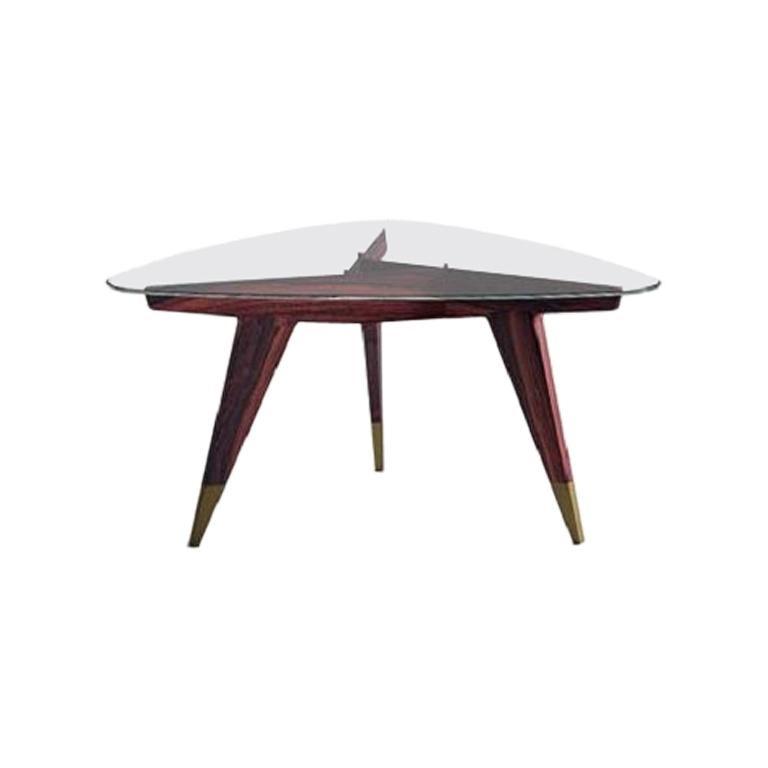 Molteni&C D.552.2 Coffee Table Gio Ponti Design Glass For Sale