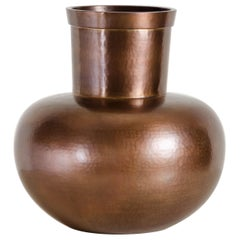 Da Hu Copper Jar, Antique Copper by Robert Kuo, Hand Repoussé, Limited Edition