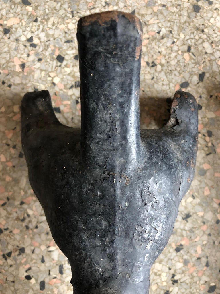 Dachshund Andirons Antique Cast Iron For Sale 1