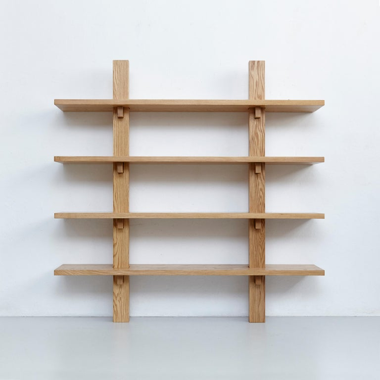 Modern Dada Est. Contemporary Ashwood Wall-Mounted Shelve  For Sale