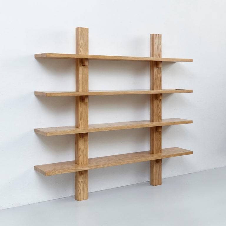Spanish Dada Est. Contemporary Ashwood Wall-Mounted Shelve  For Sale