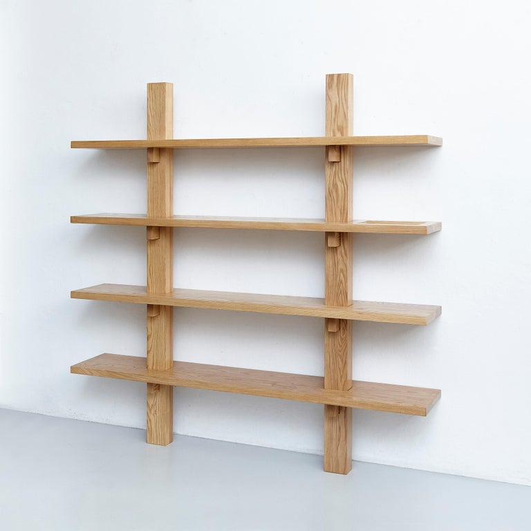 Dada Est. Contemporary Ashwood Wall-Mounted Shelve  In Good Condition For Sale In Barcelona, Barcelona