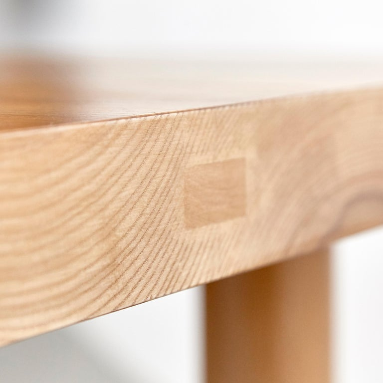 Dada Est. Contemporary Solid Ash Dining Table For Sale 9