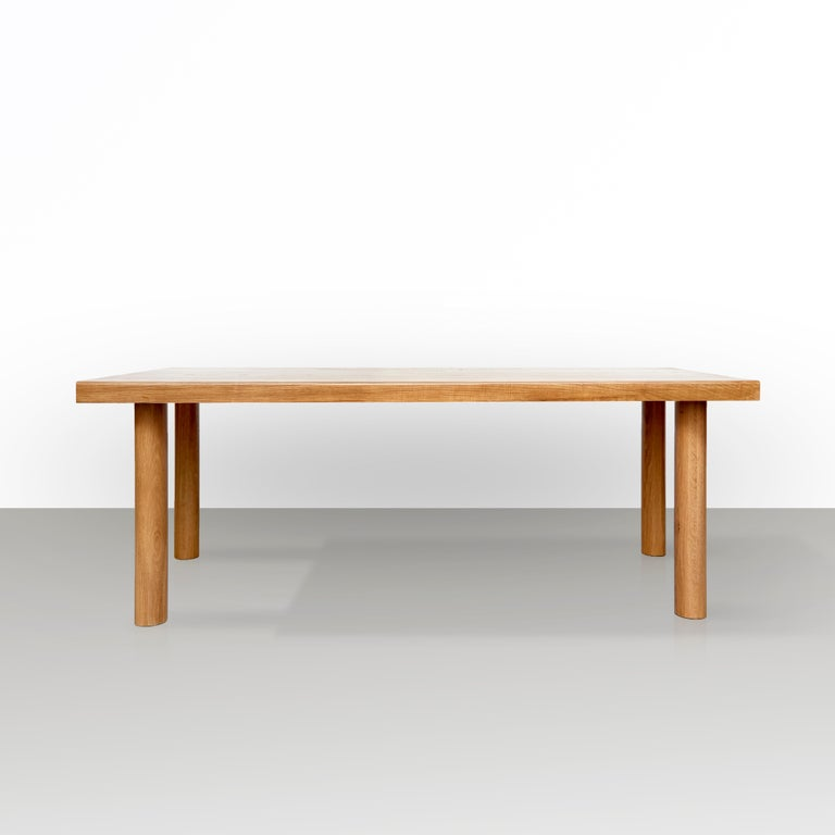 Large dining table by Dada est. manufactured in Barcelona, 2017.  Solid ash tree   Six people table  Measures: 112.5 cm D x 180 cm W x 75 cm H   Production delay: 6-8 weeks There is the possibility of making it in different measures and