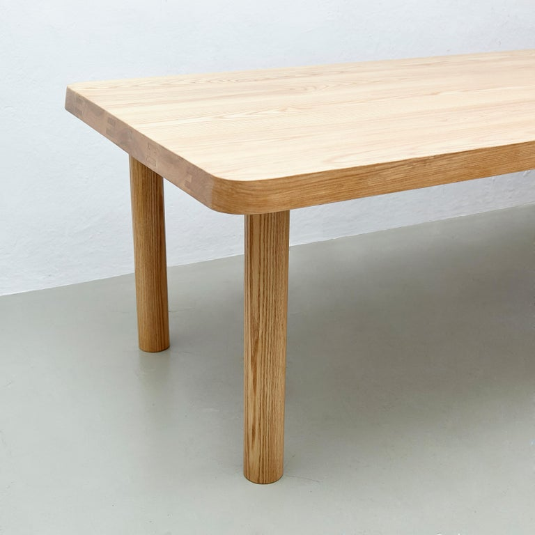 Dada Est. Contemporary Solid Ash Extra Large Dining Table In Good Condition For Sale In Barcelona, Barcelona