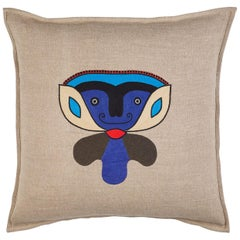 Dada, Hand Embroidered Character Cushion by Jupe by Jackie