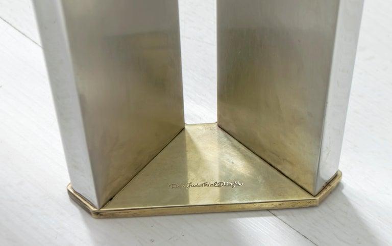 Dada Industrial Design Mid-Century Modern Italian Steel Dining Table, 1970s For Sale 3