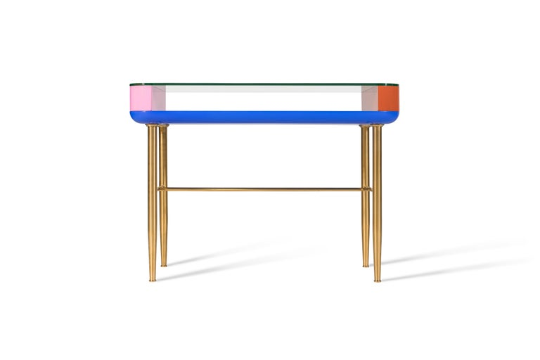 In the true Asian tradition, this family of lacquered furniture adds multiple colour to Classic forms. The glass topped console works perfectly in an entrance or lobby, the sideboard adds function and elegance to the living or dining room, and the