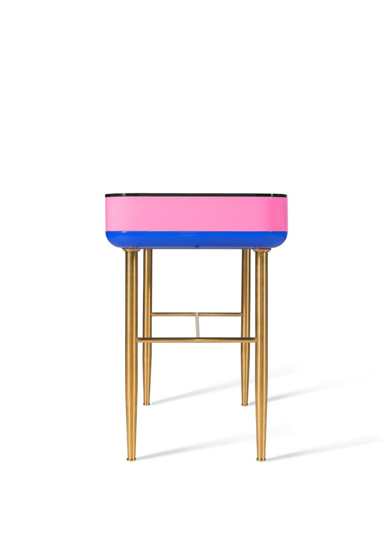 Hand-Crafted Dadah, Lacquered Console Designed by Nigel Coates For Sale