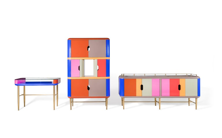 Contemporary Dadah, Lacquered Console Designed by Nigel Coates For Sale