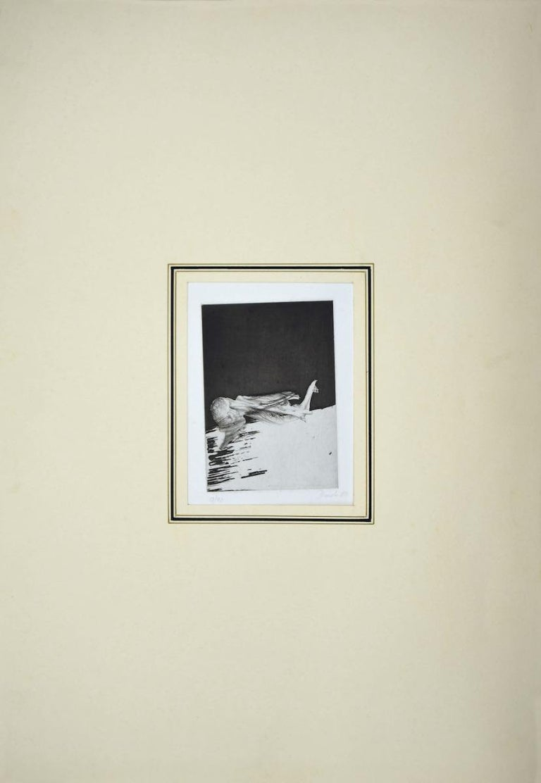 Composition - Original Etching by Miodrag Djuric - 1980s - Print by Dado (Miodrag Djuric)