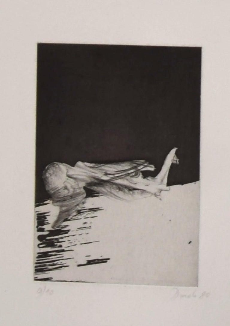 Dado (Miodrag Djuric) Abstract Print - Composition - Original Etching by Miodrag Djuric - 1980s