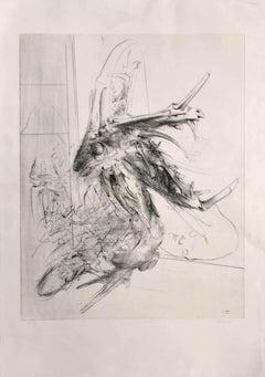 Composition - Original Etching by Miodrag Djuric - 1980s