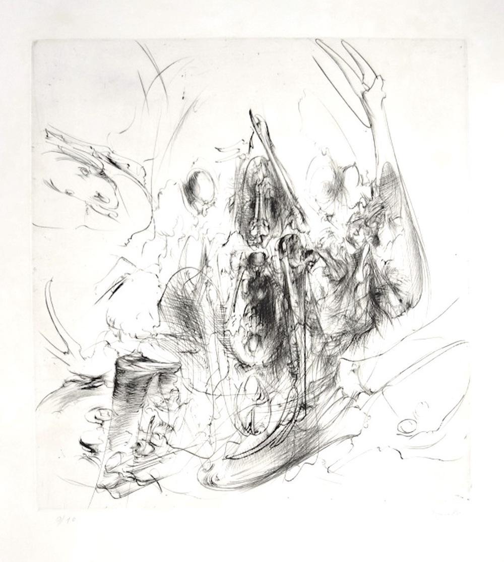 Untitled - Original Etching by Dado - 1980