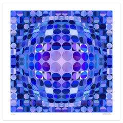 Blue Composition - Original Giclée by Dadodu - 2010