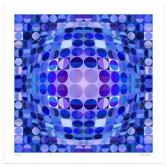 Blue Composition - Original Giclée Print by Dadodu - 2010