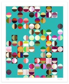 Colored Composition - Original Giclée Print by Dadodu - 2010