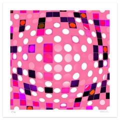 Pink Composition - Original Giclée Print by Dadodu - 2010