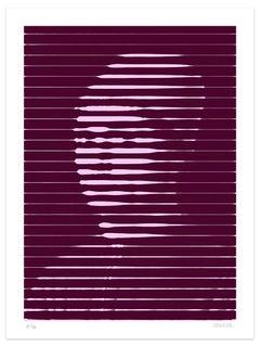 Pink Lines - Original Giclée by Dadodu - 2016