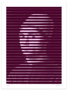 Pink Lines - Original Giclée Print by Dadodu - 2016