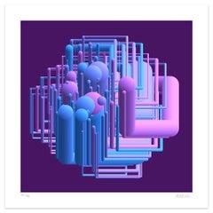 Tubing - Original Giclée Print by Dadodu - 2019
