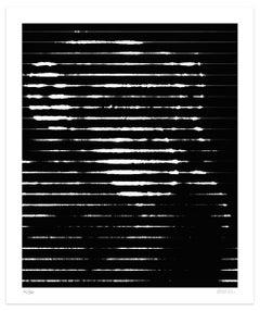 White Lines - Original Giclée Print by Dadodu - 2016