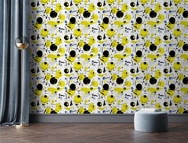 Contemporary Daedalus - custom mural wallpaper (4 color proposals) For Sale