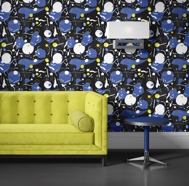 Daedalus - custom mural wallpaper (4 color proposals) In New Condition For Sale In Paris, FR