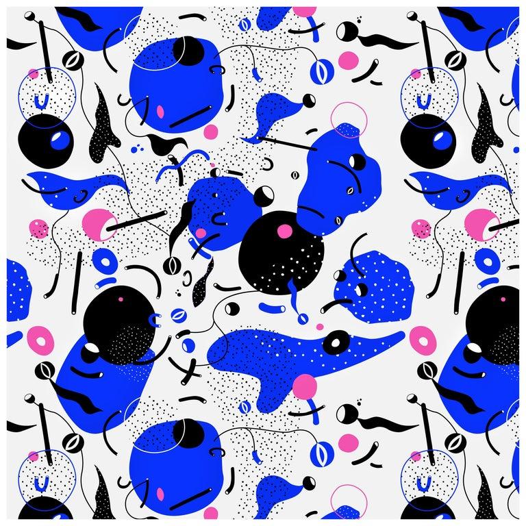 Daedalus - custom mural wallpaper (4 color proposals) For Sale