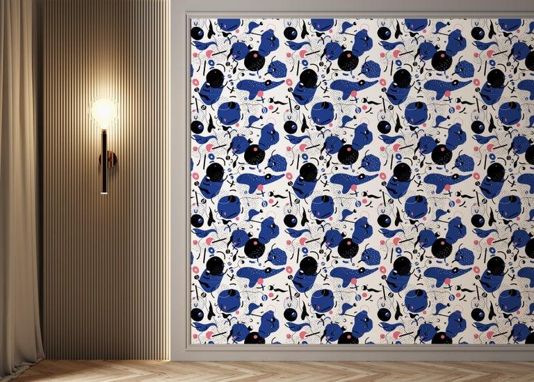 Modern Daedalus - custom mural wallpaper (4 color proposals) For Sale