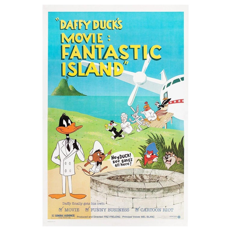 Daffy Duck's Movie: Fantastic Island 1983 U.S. One Sheet Film Poster For Sale
