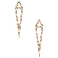 Eva Fehren Dagger Stud Earrings in 18 Karat Rose Gold