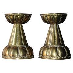 Dagobert Peche Style Pair of Candlestick