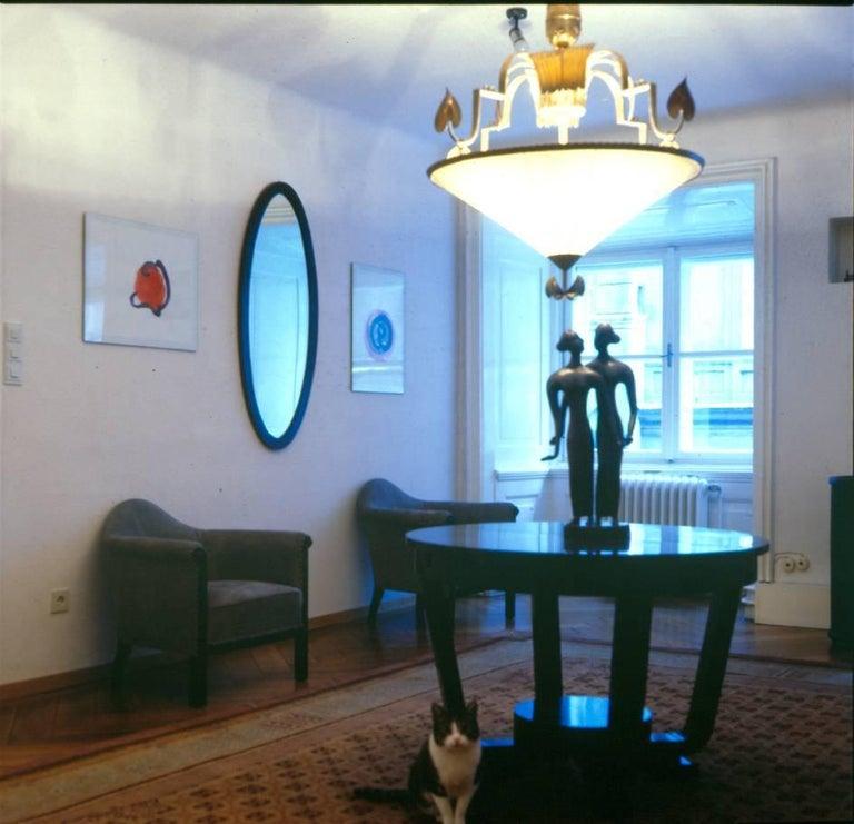Austrian Dagobert Peche Wiener Werkstaette Neue Galerie NY Jugendstil Chandelier Reedited For Sale