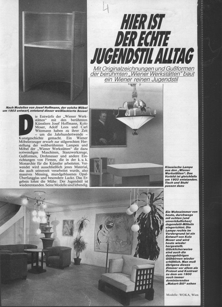 Contemporary Dagobert Peche Wiener Werkstaette Neue Galerie NY Jugendstil Chandelier Reedited For Sale