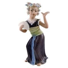 Dahl Jensen Porcelain Figurine, Aju Sitra, Model Number 1322