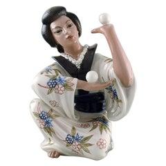 Dahl Jensen Porcelain Figurine, Japanese Juggler, Model Number 1326