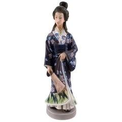 Dahl Jensen Porcelain Figurine, Japanese Woman, Model Number 1159