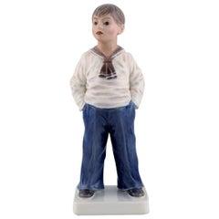 Dahl Jensen Porcelain Figurine, Sailor Boy, Model Number 1225