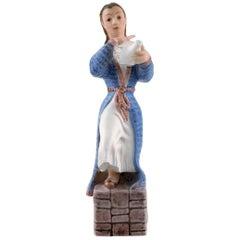 Dahl Jensen Porcelain Figurine, Tea Girl, Model Number 1326