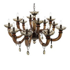 Dahlia Brown Chandelier 12 Lights