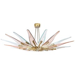 """Dahlia"" Chandelier by Max Ingrand for Fontana Arte"