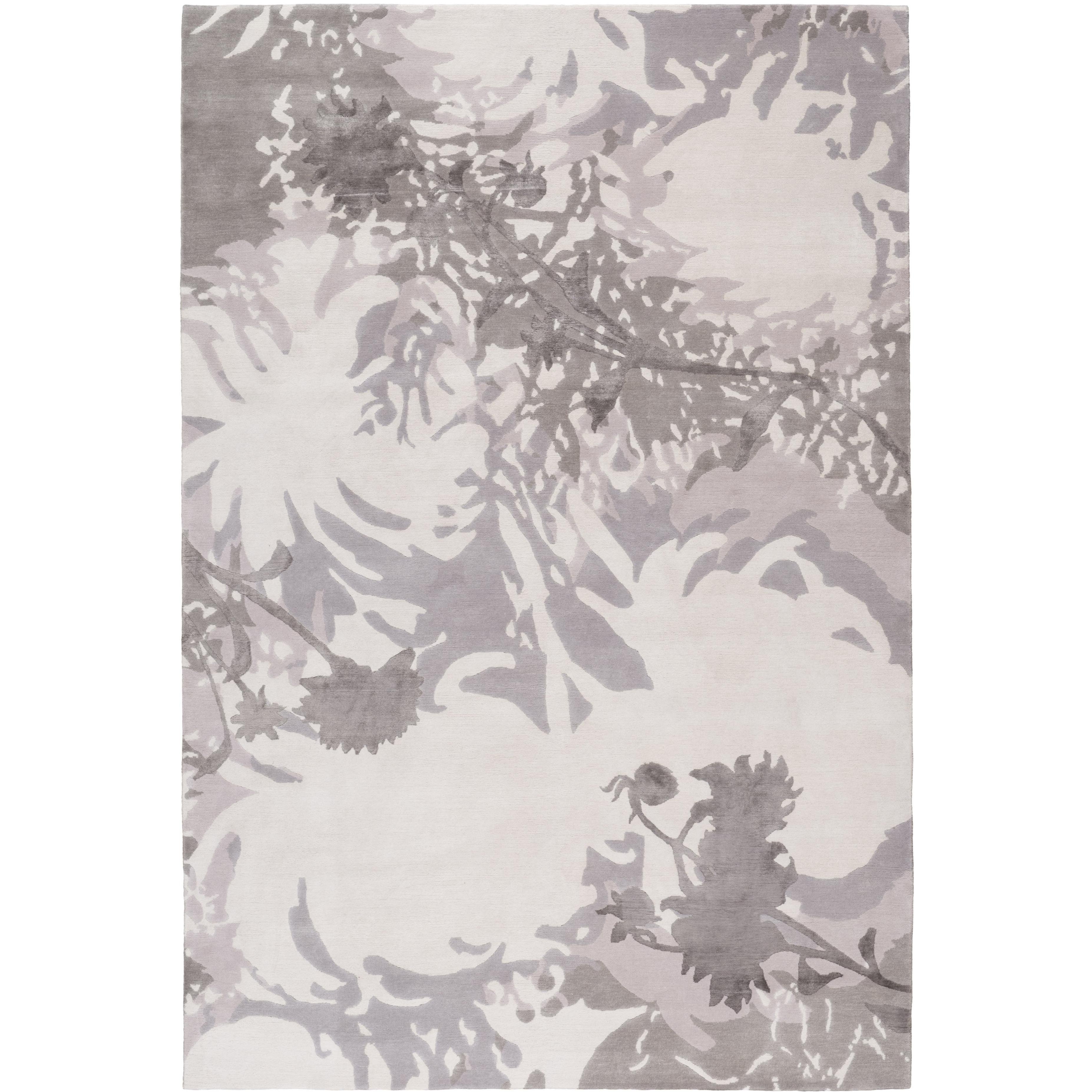 Dahlia Hand-Knotted 10x8 Rug in Wool and Silk by Alexandra Champalimaud