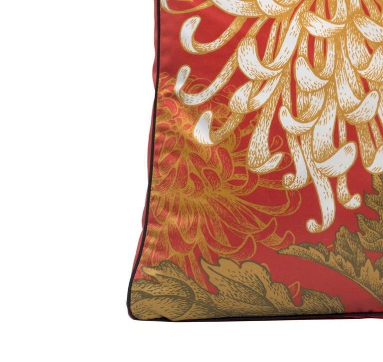 Modern Dahlia Pillow For Sale