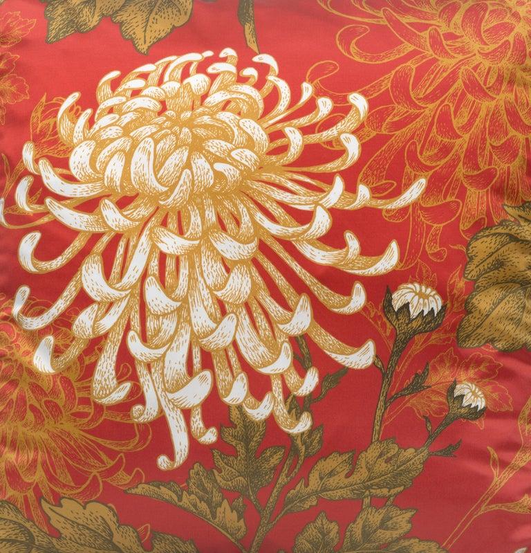 Italian Dahlia Pillow For Sale